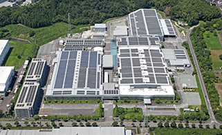 Solar panels at Tsu plant
